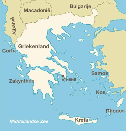 Landkaart Griekenland Lastminutegriekenland Net